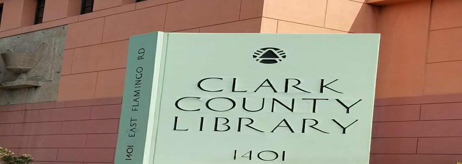 Clark County Library building.